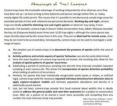 Trail camera text